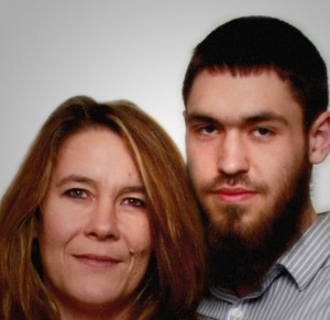 Christianne Boudreau and son Damian Clairmont